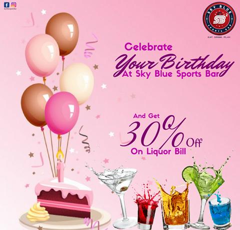 30% Off on on your Birthday  Liquor Bill !